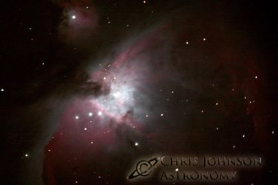 Photo taken by Chris Johnson. M42 is the Great Orion Nebula