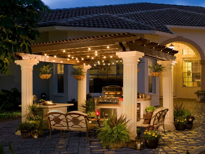 6 great backyards you could build enjoy in northern for Luxury outdoor lighting
