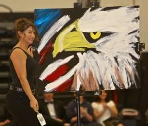 Talent show painter